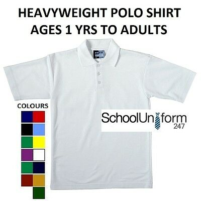 Zeco Boys Girls Adults School Polo Shirts PE Sports Quality Top Ages 1-20+ years