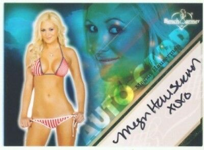 "Megan Hauserman ""autograph"" Benchwarmer Limited 2009"