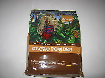 POWER SUPER FOODS 1KG CACAO POWDER Mayan Superfood Organic Pure Raw Chocolate PD