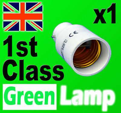 Lamp Light Bulb Socket Base Converter Bayonet Cap to Edison Screw B22 to E27 UK
