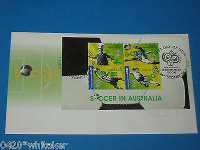 "2006 FIFA WORLD CUP ""Soccer in Australia"" AUSTRALIA POST FIRST DAY COVER unused"
