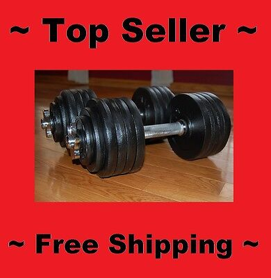 Iron Weight Adjustable Dumbbell Set 200 Lbs Body Workout Fitness Accessories