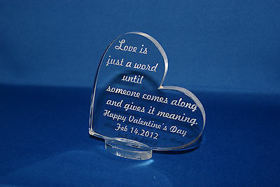 personalized valentines heart