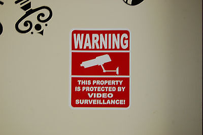6  SECURITY video SURVEILLANCE camera DECAL STICKER property home CCTV