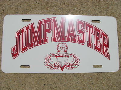 License Plate, JUMPMASTER-NEW