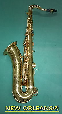 TENOR SAXOPHONE NEW ORLEANS®  GOLD Sib + Fa# + HARD CASE + MOUTHPIECE + REEDS
