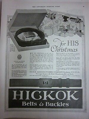 1921 Vintage HICKOK Belts & Buckles for His Christmas Ad