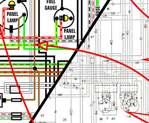 MGA 1500 1955 - 1959 World Spec COLOR Wiring Diagram 11x17    A3
