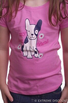 Girl's Kid's Dog Puppy Doggy Pink SS Shirt Top NEW 18 24 months 2T 3T 4T 5T