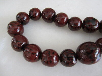 """Polished Brown & Black Tagua Nut Wood Beads 18mm to 20mm Round 15"""""""