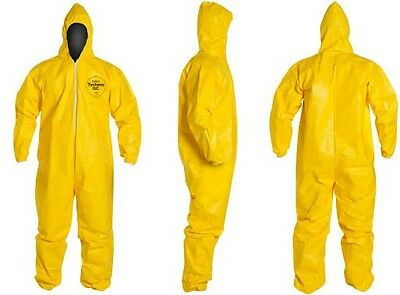 Dupont Tychem Tyvek QC QC127 Chemical Hazmat Suit 5X-LARGE YELLOW NEW  5XL