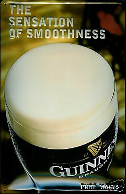 "Guinness Metal Sign Guinness Pure Magic Embossed 8"" X 12"" Size 7"