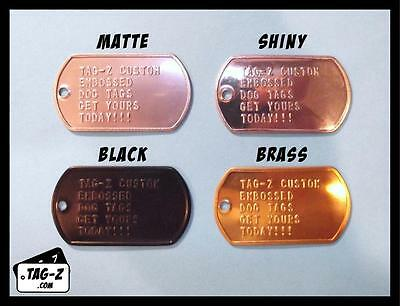 1 Military Dog Tag Custom Embossed- GI ID Tags - Personalized Tag Replacement