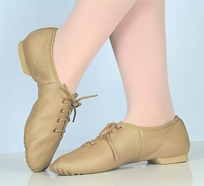 Ellis Bella Jazz shoes -- Split sole lace up K10 tp A10