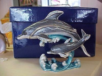 Doris Dolphin  & Baby Enameled Matching Necklace  62269