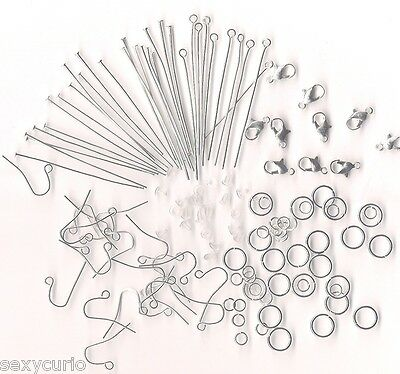 Huge Craft Kit for Beads Making Jewelry Necklace Bracelet Earrings Mixed Finding