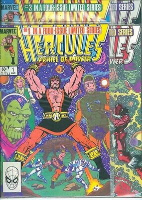 Hercules lot #1-4 complete mini-series 1983