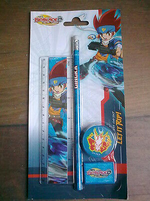 set scolaire beyblade metal fusion 4 pieces neuf  let it rip