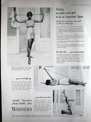 1949 Vintage Warner's Girdle Bra Darling You don't Need Pull Ad