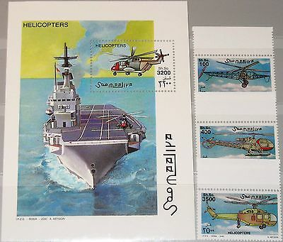 SOMALIA 2000 811-13 Block 66 Hubschrauber Helicopter Aviation Aircrafts MNH