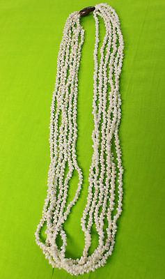 NEW Hawaiian Hawaii Wedding / Graduation Multi-Strand Mini Shell Lei Necklace