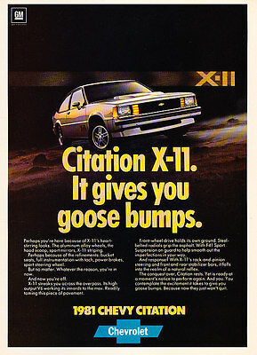 Classic Vintage Advertisement Ad H39 white 5d 1980 Chevrolet Chevy Citation