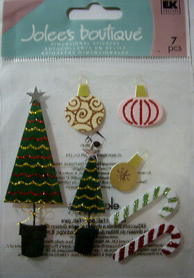 NEW 11 pc JINGLE BELLS Merry Xmas Music Holly Bows 3D Title Stickers JOLEE/'S