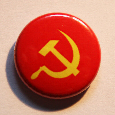 Hammer & Sichel Button / Badge UdSSR Antifa Punk CCCP Pin sickle Kommunismus
