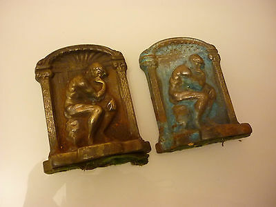 Vintage Old Metal Book Ends (Cast Iron or Steel) - M1-0056