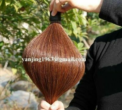 """New Med Sorrel Horse Show Tail Hairs Extension 1/2Lb 34-36"""" AQHA C4H w/ FREE BAG"""