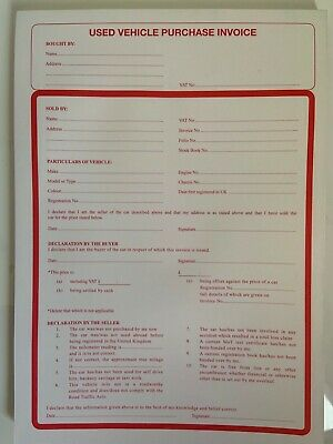 used car purchase invoice stationary for buying selling motor vehicles