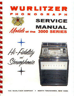 Wurlitzer 3000 Service, Parts & Troubleshooting Manual