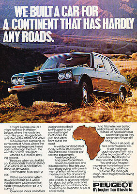 1977 Peugeot 504 Africa clr -  Classic Vintage Advertisement Ad A70-B