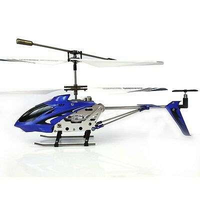 NEW SYMA S107 3 Channel RC Mini Helicopter GYRO Metal Series Blue FREE SHIPPING!