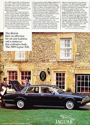 1989 Jaguar XJ6 Sedan - Classic Vintage Advertisement Ad A75-B