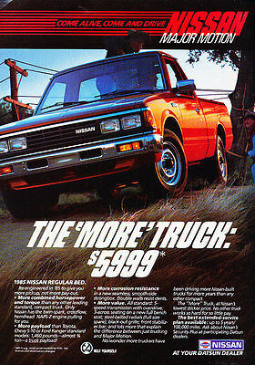 1985 Nissan Truck Pickup - Classic Vintage Advertisement Ad A79-B