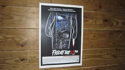 Friday The 13th Repro Film POSTER