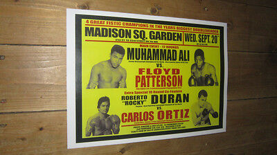Muhammad Ali Floyd Patterson Repro Boxing POSTER