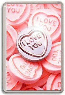 I love you, Love hearts Fridge Magnet Valentines day gift