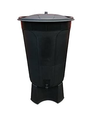 200 Litre Black Water Butt With  Stand Tap & Lid