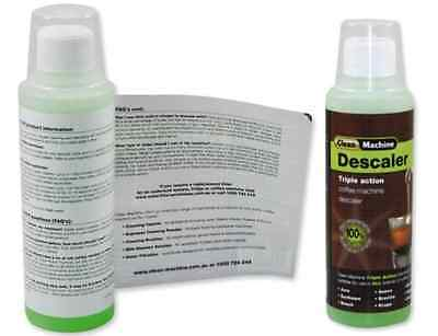 Clean Machine Triple Action Coffee Espresso Cleaner Descaler 250ml 5 uses