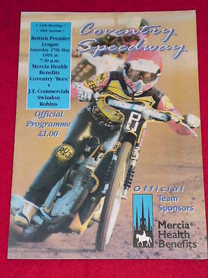 SPEEDWAY - Coventry v Swindon - May 27 1995