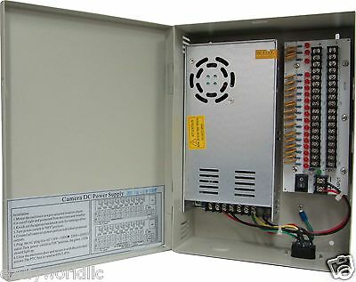 12VDC/25Amps 18 PTC OUTPUT CCTV DISTRIBUTED POWER SUPPLY