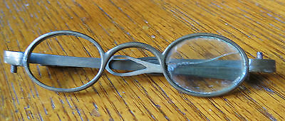 EARLY ANTIQUE TURN PIN BRASS SPECTACLES EYEGLASSES 18th C - Nice