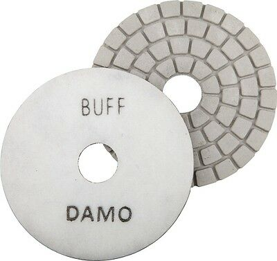 "5"" DAMO White Buff Pad for Granite Polishing & Glazing/ Final Buffing Pads"