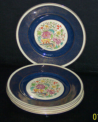 5 LUNCHEON PLATES BY BURGESS & LEIGH #6440 - GOOD CONDITION
