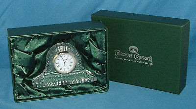 Irish Handmade Small Drumreagh Tyrone Crystal Mantle Clock ~ New In Box
