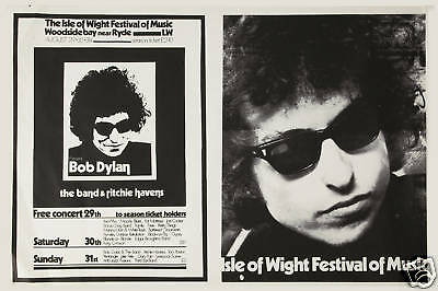 Bob Dylan at Isle of Wight Concert Poster 1969