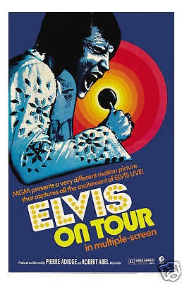 Elvis Presley * Elvis On Tour * Movie Poster 1972