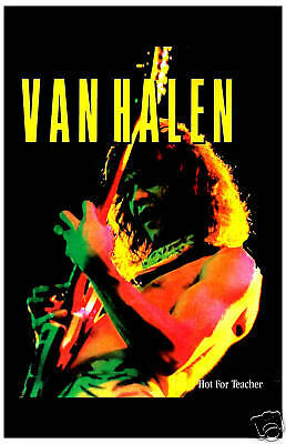 Eddie Van Halen * Hot For Teacher * Promotional Poster